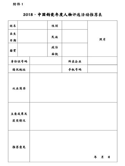2018年中国彩票平台app钧瓷年度人物正在申报·请勿错过
